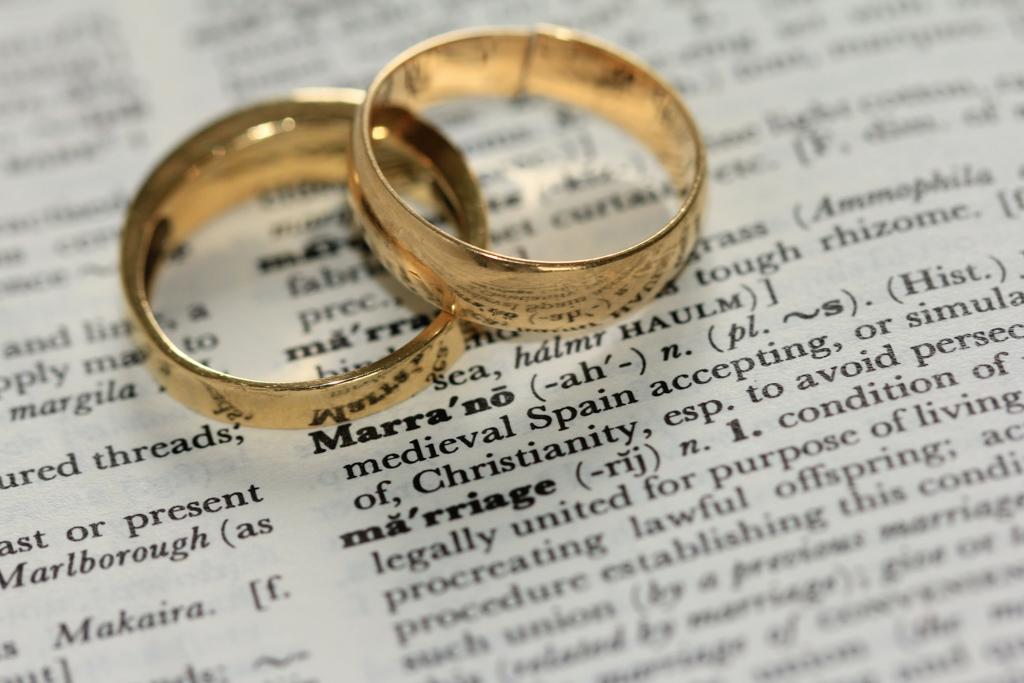 2対の結婚指輪